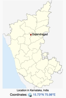 Map of Gajendragad